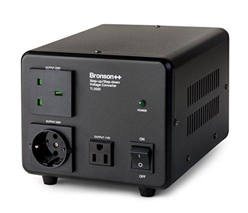 Bronson++ TI 2000 110 Volt USA Spannungswandler Ringkern-Transformator 2000 Watt - In: 110V oder 220V / Out: 110V und 220V - Bronson 2000W