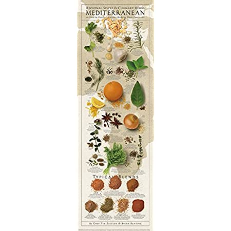Amazon Com Picture Peddler Regional Spices And Culinary Herbs Mediterranean Keating Kitchen Cooking Print Poster 12x36 Posters Prints