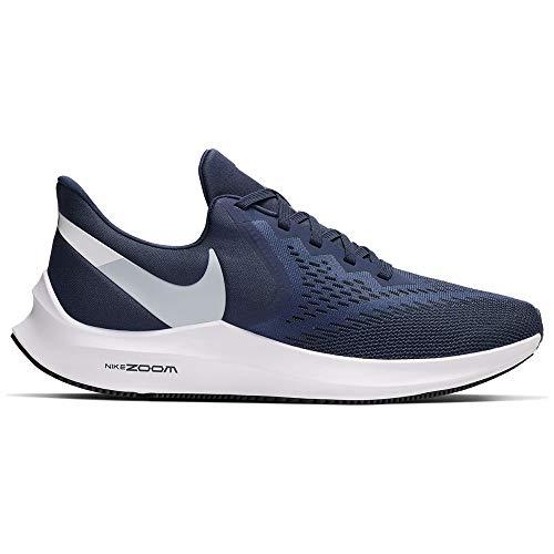 Nike Zoom Winflo 6, Zapatillas de Atletismo Hombre, Multicolor (Midnight Navy/Pure Platinum 401), 43 EU