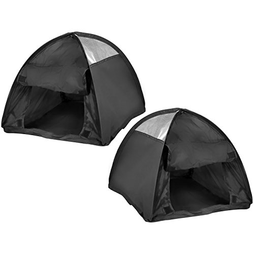 COM-FOUR® 2x pop-up tent voor huisdieren, tent voor katten en kleine honden, ca. 36 x 36 x 32 cm (02 stuks)