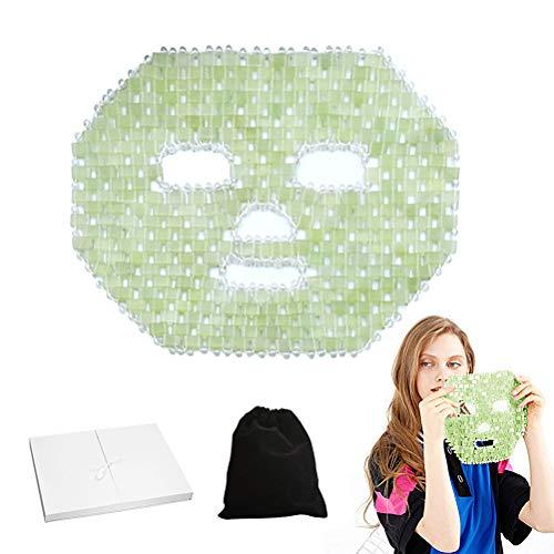 QoFina Quarz Jade Schlaf Gesichtsmaske, Anti-Aging Hot oder Cold Therapy Augenmaske für Face Neck Beauty Verjüngt Gesicht und Hals Haut