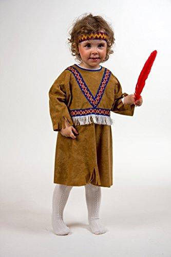 Kleid Indianerin Freche Taube Kinderkostüm Größe 92