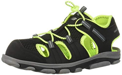 New Balance Unisex-Kid's Adirondack Sandal Sport, Black/Lime, G6 M US Big Kid
