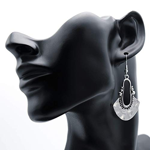 Ohrringe AMBRA Schmiedeoptik silber lang hängend Ohrhänger 6 cm Damen