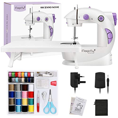 Magicfly Mini Sewing Machine for Beginners with Extension Table, Dual Speed...
