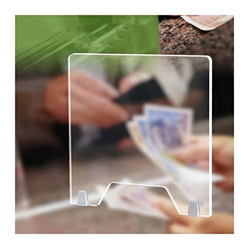 ALGFree-Jardín Funda Muebles Las Hojas de AcríLico Transparente for Mostrador Y Escritorio, Portátil Barrera de Plexiglás, Pie Claro Escudo Acrílico con Transacción Ventana, Pantalla de Alimentos
