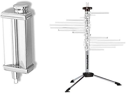 new arrival KitchenAid KPSA outlet sale Stand-Mixer Pasta-Roller Attachment + wholesale metal rack outlet online sale