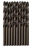 Broca para metal HSS DIN338 M35 cobalto de 5 mm (paquete de 10 unidades)