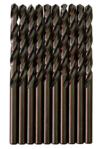 Broca para metal HSS M35 cobalto de 5 mm (paquete de 10 unidades)