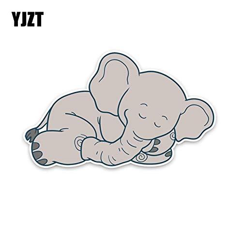 JYHW Elefante de Animal Dormido 15,5 CM * 9,5 CM para la Etiqueta engomada del Coche Etiqueta de la decoración del Coche del PVC 5-2064