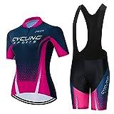 weimostar Conjunto de ropa de ciclismo de manga corta para mujer