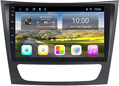 Laytte El Automóvil con La Navegación GPS De Bluetooth Es Adecuado para Mercedes-Benz E W211 Android Multimedia Player Máquina Integrada De Navegación Táctil Completa,4core 4g WiFi:2+32gb