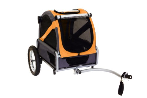 DoggyRide Mini Dog Bike Trailer, Spring Green/Grey