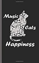 "Music Cats Happiness Musician Journal - Notebook: Student Assistant Teacher Gift Book - 100 Lined Pages + 8 Blank (54 Sheets), Small Lightweight 5x8"" (Music Instruction & Study Vol 2)"
