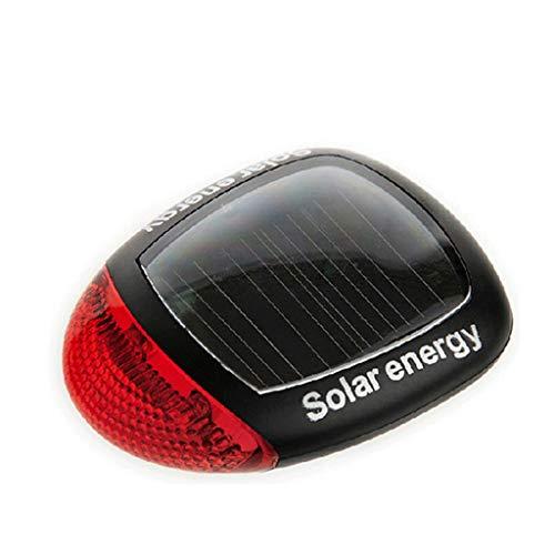 CAIM- Eclairage avant Feux arrière Chauffants LED Feux d'avertissement Feux solaires arrière sans Batterie Accessoires pour équipement de Nuit (Color : Black)