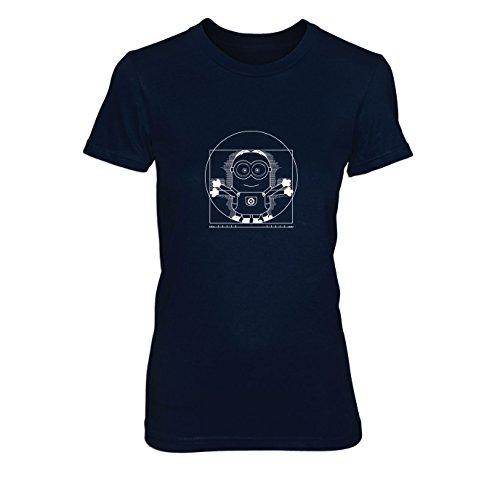 Vitruvian Banana - Damen T-Shirt, Größe: L, dunkelblau
