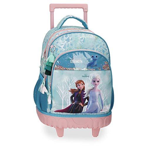 Disney Frozen Find Your Strenght Zaino trolley 2R Azzurro 33x44x21 cms Poliestere 30.49L