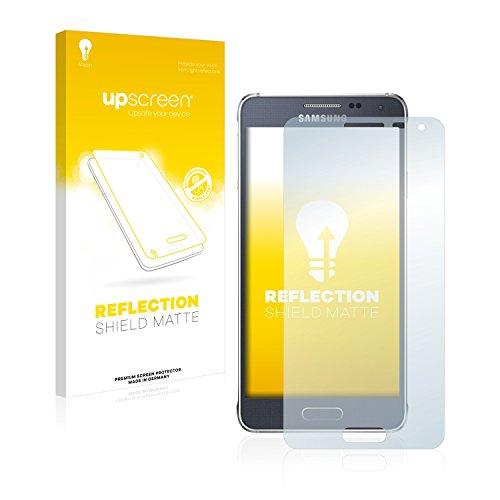 upscreen Entspiegelungs-Schutzfolie kompatibel mit Samsung Galaxy Alpha SM-G850F – Anti-Reflex Bildschirmschutz-Folie Matt