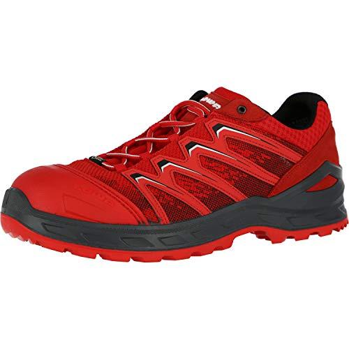 Lowa Sicherheitsschuhe LARROX Work GTX Black Lo S3, Farbe:rot, Schuhgröße:45 (UK 10.5)