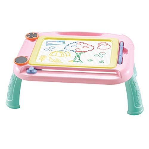 BESTSOON Large Magnetic Drawing Board Colorful Portable Pad Screen Writer Magic Drawing Board Writing Tablet Learning Toys For Kids Doodles Pad (Color : Pink, Size : 28x22cm)