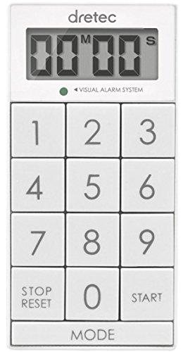 dretec(ドリテック) デジタルタイマー スリムキューブ 消音切替 光 ホワイト T-520WT