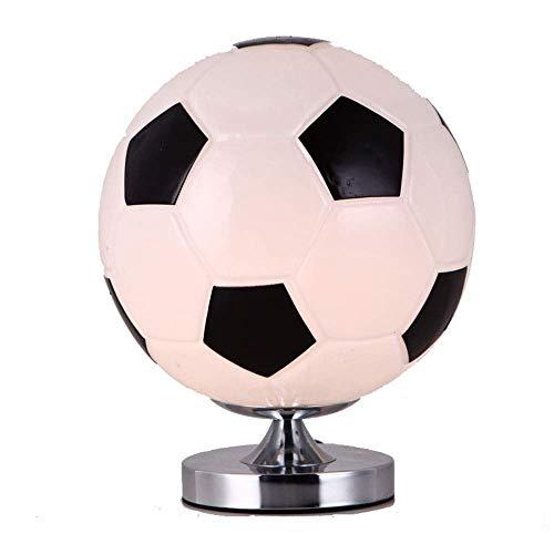 Dr.Sprayer Lámpara de Mesa Lámpara de Cristal de fútbol de fútbol con Personalidad Simple y Creativa lámpara de cabecera LED lámpara de Lectura de Escritura para ni?os 1 * (25 * 28 cm)