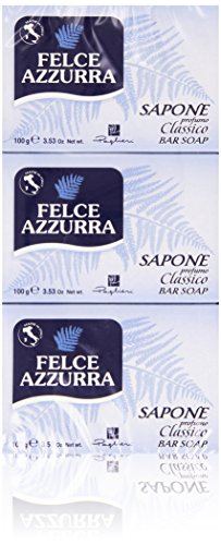 Fougère bleue – Savon, parfum classique, 3 x 100 g