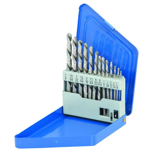13 Piece Left-Hand Drill Bit Set HSS Double Flute