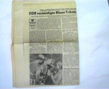 alte seltene DDR - Zeitungssammlung zum Thema Friedensfahrt 1959: Ausschnitte aus verschiedenen DDR-Zeitungen:
