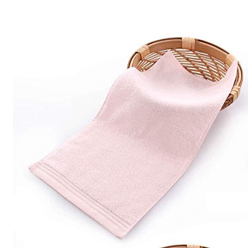 NO LOGO Algodón Toalla Pequeña Rectangular hogar Hombres y de Mujeres, Toalla del bebé de la Saliva del niño, Toalla Suave Cara, Paquete de 4 (Color : Pink)