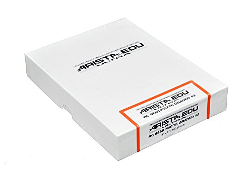 Arista EDU Ultra RC Black & White Photographic Paper, Semi-Matte #2, 5x7, 100 Sheets
