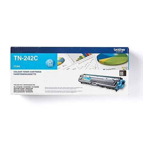Brother Original Tonerkassette TN-242C cyan (für Brother HL-3142CW, HL-3152CDW, HL-3172CDW, DCP-9017CDW, DCP-9022CDW, MFC-9142CDN, MFC-9332CDW, MFC-9342CDW)