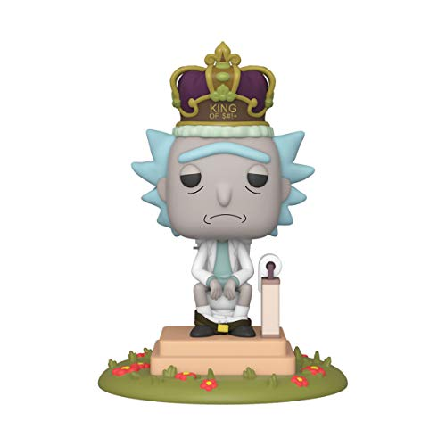 Funko 45437 POP Animation: Rick & Morty-King of $#+ w/Sound Rick and Morty Collectible Toy, Multicolour