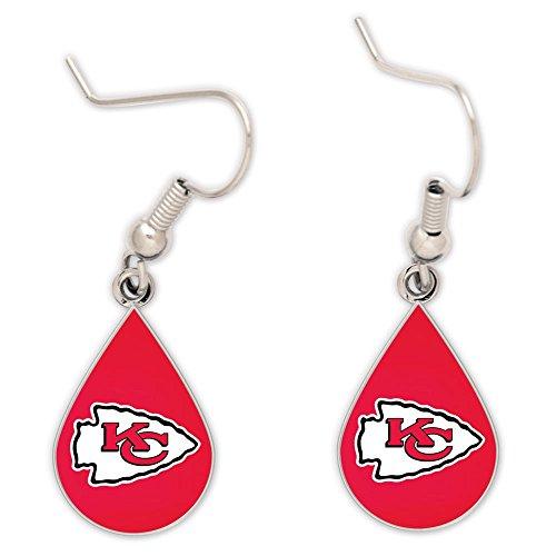 WinCraft NFL Kansas City Chiefs Tear Drop Earrings, Large, Multi