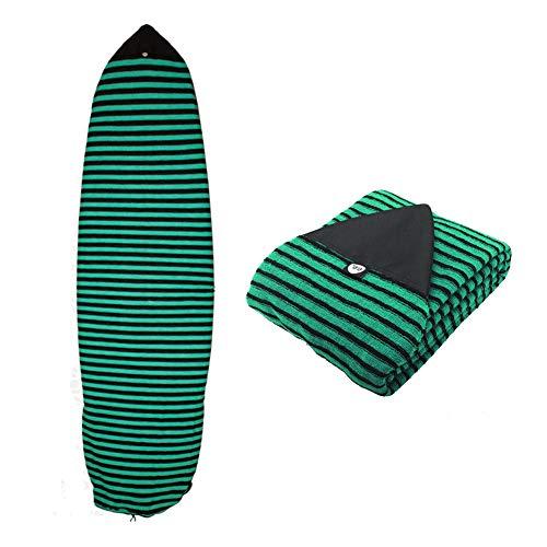 Geekbuzz - Funda para tabla de surf (1,82 m, 2,13 m), Green Strip, 6.6ft