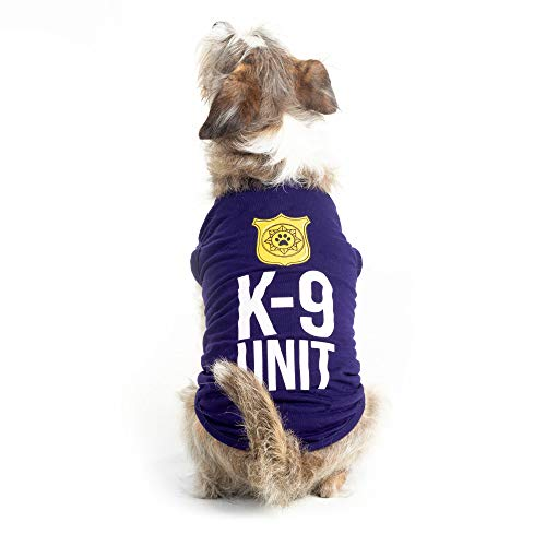 K-9 Unit Police Dog Shirt - Cute Canine Cop Halloween Costume (X-Large)