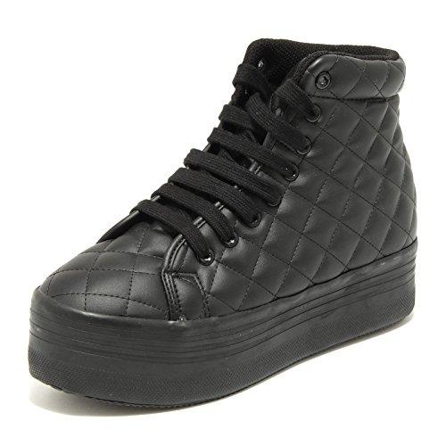 Jeffrey Campbell 7656G Sneaker Donna Nera HOMG Zeppa Scarpa Shoes Women [41 EU-8 UK]