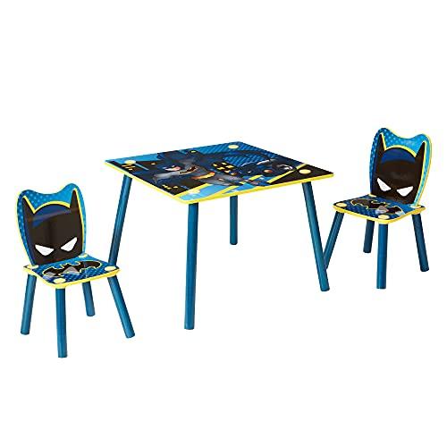 Batman Ensemble Table et 2 chaises pour Enfants, Bleu, 63cm x 63cm 52,5cm
