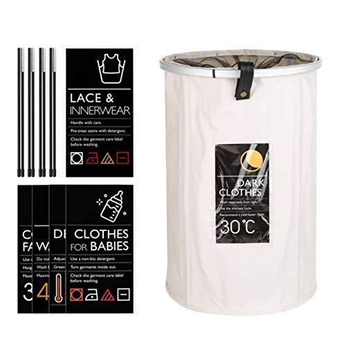 XATAKJJ Panier Pliable Support Panier à Linge Jouet boîte de Rangement Super Grand Sac Coton Lavage vêtements Sales Grand Panier Organisateur Bin