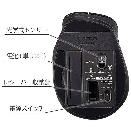 『エレコム マウス ワイヤレス (レシーバー付属) Sサイズ 小型 5ボタン (戻る・進むボタン搭載) BlueLED 握りの極み ホワイト M-XGS10DBWH』の5枚目の画像