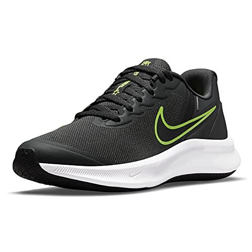 Nike Star Runner 3, Scarpe da Ginnastica, Dk Smoke Grey/Black-Black, 35.5 EU