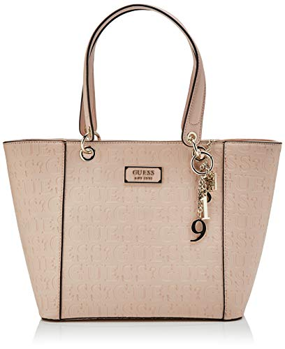 Guess Damen Kamryn Tote Klassisch, Orange (Peach), 15x27x42 Centimeters