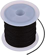 DFSM Black Waxed Cotton Cord DIY Beading Making Bracelet&Necklace Jewelry 1mm Stretch Stretchy Elastic Rope line Beads Cord (Color : Black)