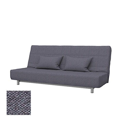 Soferia Funda de Repuesto para IKEA BEDDINGE sofá Cama de 3 plazas, Tela Nordic Anthracite, Gris