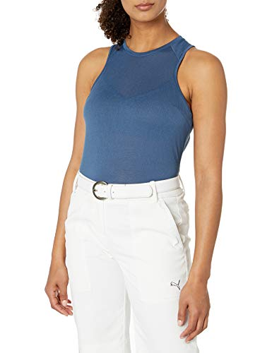 PUMA 2020 Flirt Camiseta sin Mangas de Malla para Mujer, 2020 Flirt Mesh Tank, Mujer, Color Vaquero Oscuro, tamaño XS