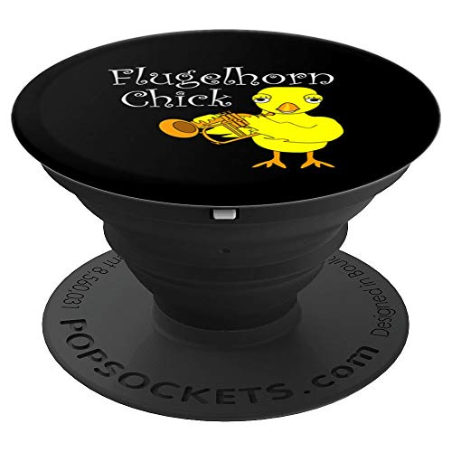 Flugelhorn Chick White Text PopSockets Grip and Stand for Phones and Tablets
