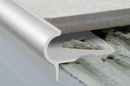 1 Stück | Rand Fliesenleiste | Alu | rostfrei | Effector | 2000x29x17mm | A80 | silber