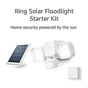 Ring Solar Floodlight, Outdoor Motion-Sensor Security Light, White (Starter Kit)