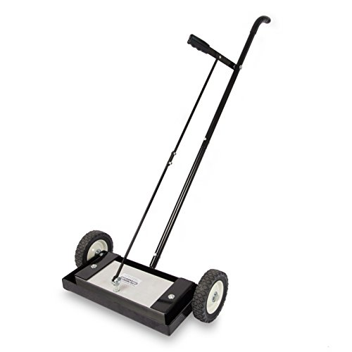 """Magnet Sweeper Heavy Duty Push-Type with Release, 14"""" Sweeping Width, 1 Each, Part No. MFSM14RX"""