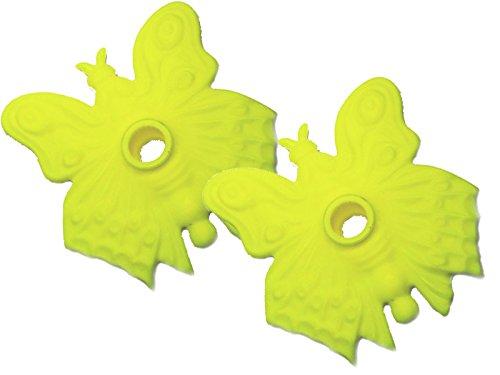 TEHNOMAT Kinder Schmetterlingteller Teller, Gelb, Uni